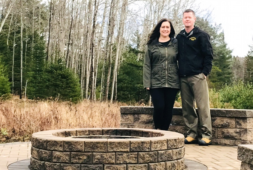 Emilie and Ryan Lowe own Bricks and Stones Landscape Design, a West Northfield company that designs and installs hardscapes. Many clients chose to improve their properties in 2020 because COVID-19 restrictions prevented them from taking vacations.