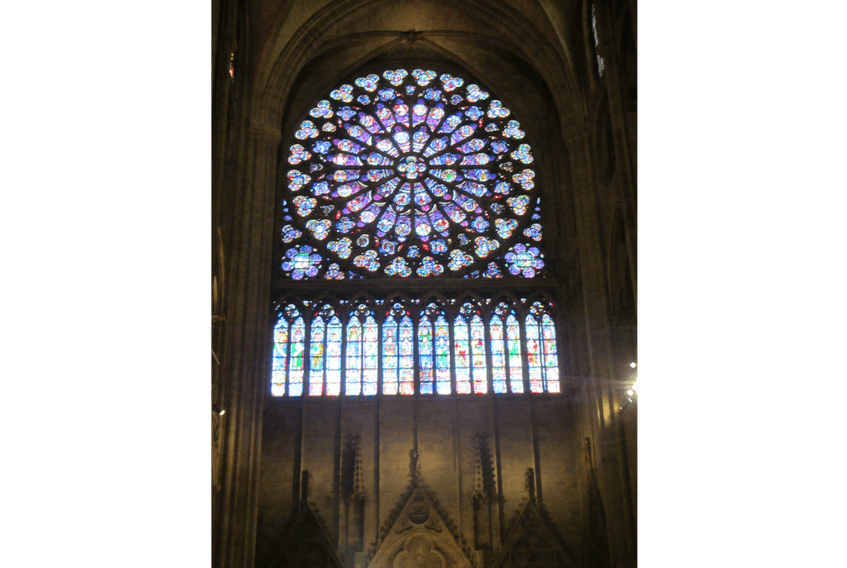 One of the rose windows in Notre Dame cathedral, Paris, France, in June 2014  - Jeremy Hylton/Wikimedia Commons