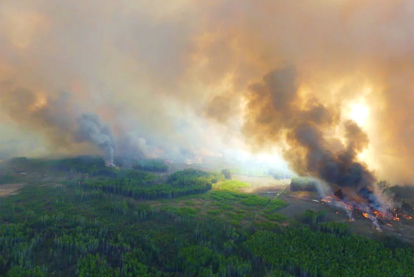 Fire activity on the Chuckeeg Creek fire, May 27, 2019. - Contributed/via Postmedia