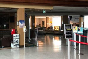 The empty J.A. McCurdy Sydney Airport in May. The airport's future remains a concern for CEO Mike MacKinnon. CAPE BRETON POST