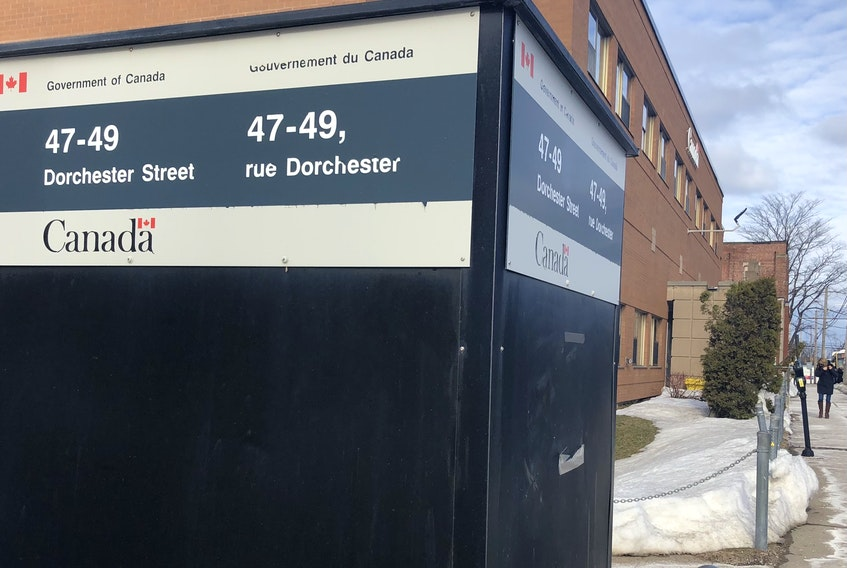 The sign to Government of Canada's Immigration, Refugees and Citizenship offices on Dorchester Street, one of three downtown Sydney locations for the department. The newly leased space in New Waterford will be the Sydney office's fourth location where employees will be processing applications. NICOLE SULLIVAN/CAPE BRETON