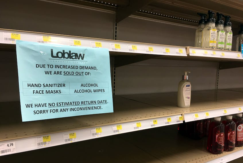 Empty retail shelves were common a few months ago. While that situation has largely improved, food researcher Sylvain Charlebois says some things will never be the same at the grocery store. ERIC WYNNE/Chronicle Herald