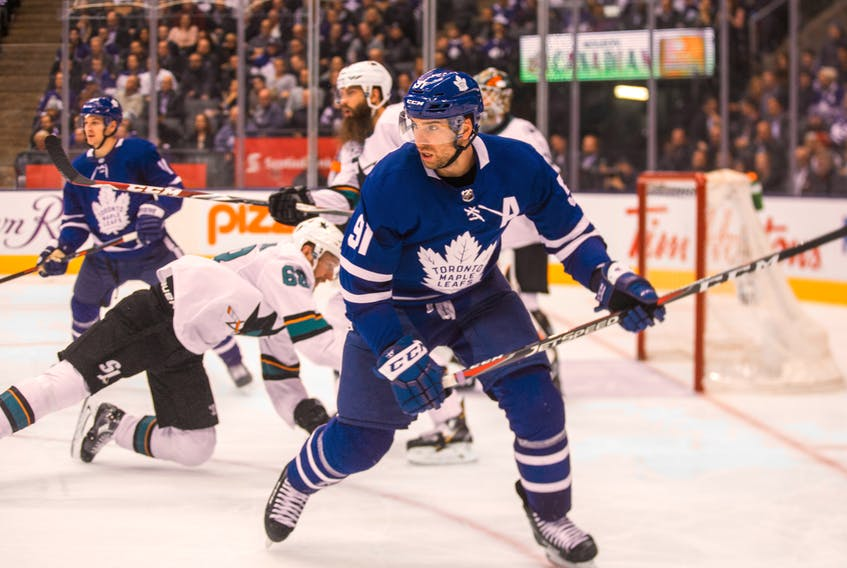 The Maple Leafs are looking for their fourth consecutive win when the face the San Jose Sharks on Tuesday night. (Ernest Doroszuk/Toronto Sun)