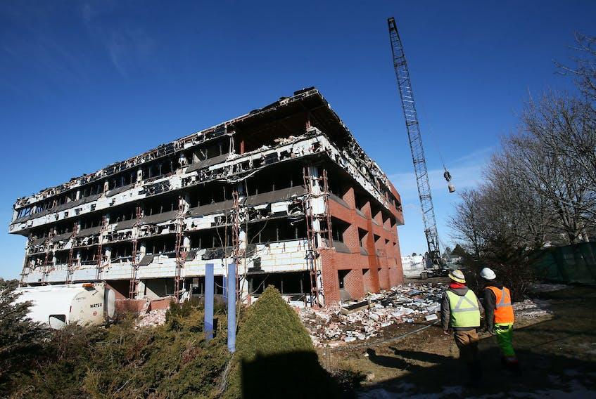 The former Nova Scotia RCMP HQ went under the wrecking ball Jan. 31, 2020.  – Tim Krochak/SaltWire Network File
