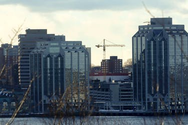 FOR NOUSHIN STORY: A crane is seen in Halifax Thursday February 10, 2020. For story on city growth.  TIM KROCHAK PHOTO