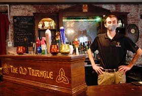 FOR LAMBIE STORY: Brendan Doherty od the Irish Triangle has already canceled St. Patrick's Day at the pub this year...he is seen in Halifax Monday March 1, 2021.  TIM KROCHAK PHOTO
