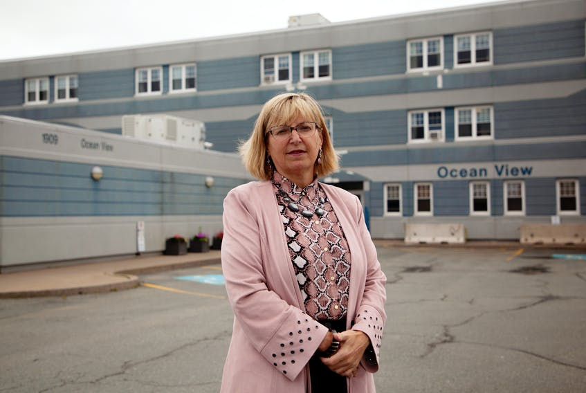 Progressive Conservative MLA and Critic for Seniors and Long-Term Care, Barbara Adams is calling on the Minister of Health to temporarily increase staffing budgets, modestly, so that outdoor visits at long term care home visits can happen. For the last 2 months, Adams has been working as a physiotherapist at Ocean View Continuing Care Centre, filling in for staff shortages and is seen outside the care facility in Eastern Passage Monday.