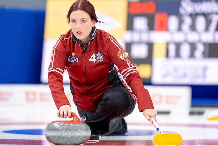 Newfoundland and Labrador skip Sarah Hill — Andrew Klaver/Curling Canada