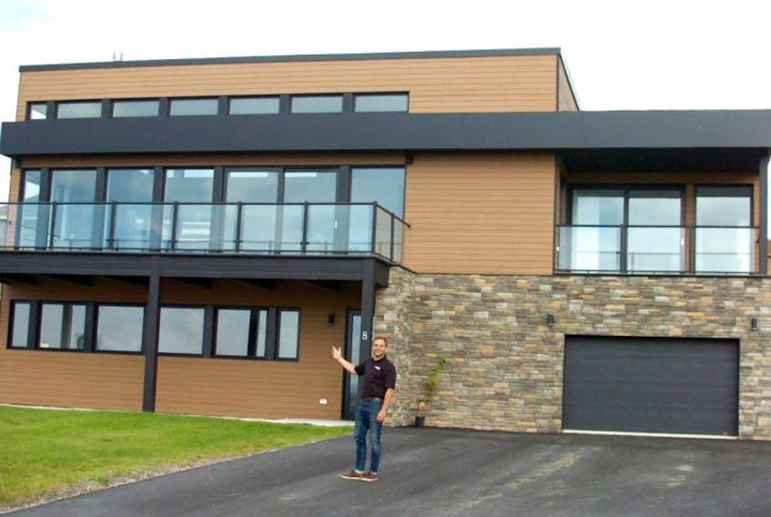 Steve Gardiner of NewEast Development Corp. shows off the ultra-modern steel-framed BONE Structure home in Long Pond, C.B.S.