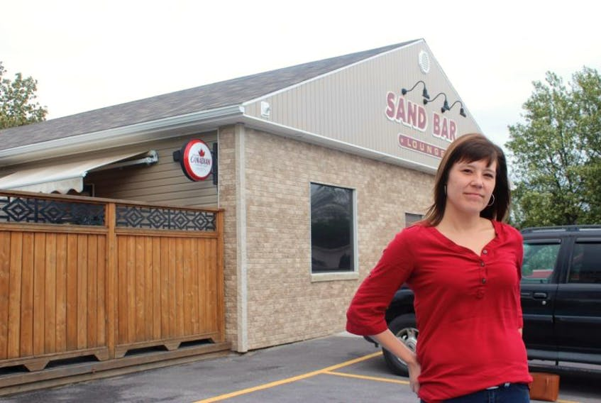 Andrea Pardy was attacked inside the Sand Bar Lounge in Happy Valley-Goose Bay in 2012.