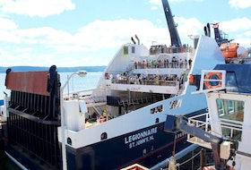 The MV Legionnaire is the new ferry on the Bell Island-Portugal Cove route.