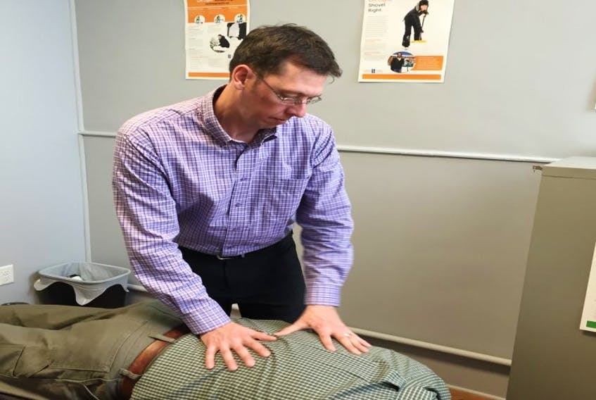 Dr. Darrell Wade, CEO of the Newfoundland and Labrador Chiropractic Association, offers free services two mornings a week to patients who can't afford care.