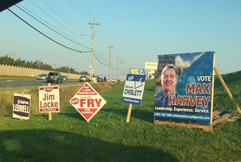 The Mount Pearl municipal election takes place on Sept 26.