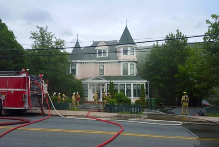 Firefighters at Waterford Manor on July 7, 2016.