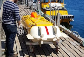 Kraken Sonar Inc. had its ThunderFish Autonomous Underwater Vehicle (UAV) in the waters Conception Bay on Friday morning in anticipation of a trip later this month to the mainland, where it will be deployed in Lake Ontario to aid in the search and recovery efforts of nine test models for the Avro-Arrow.
