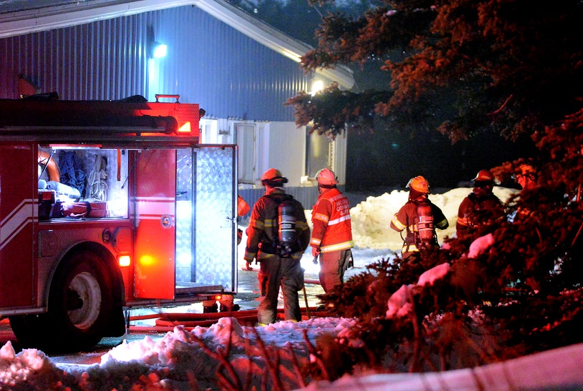 A suspicious fire at a Mount Pearl business was under investigation early Thursday morning. Keith Gosse/The Telegram