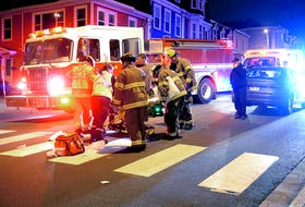 A man was taken to hospital with a serious leg injury after he was struck by a car in downtown St. John's. Keith Gosse/The Telegram