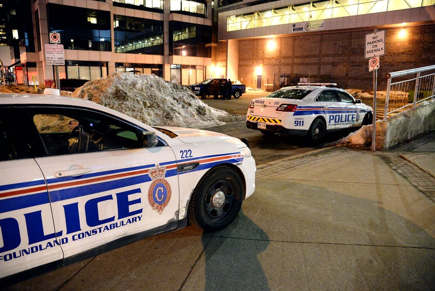There was heavy police presence inside and outside Mile One Centre Friday night near the end of the Growlers hockey game.