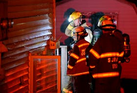 A man and woman escaped through a window during an alleged arson early Saturday moring. Keith Gosse/The Telegram