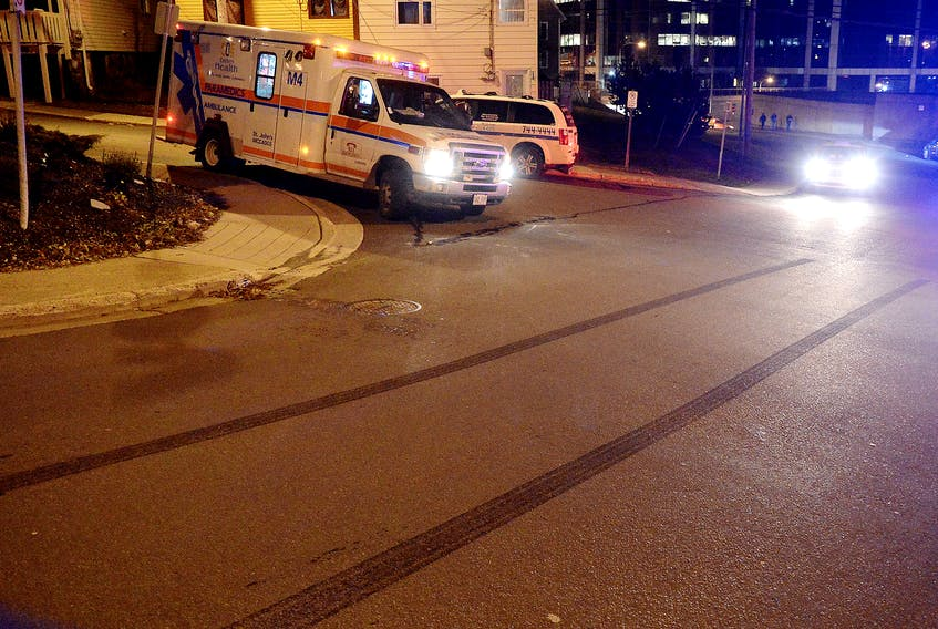 A sixth pedestrian has been struck by a vehicle in the downtown area of St. John's in just one week, almost to the hour. Keith Gosse/The Telegram