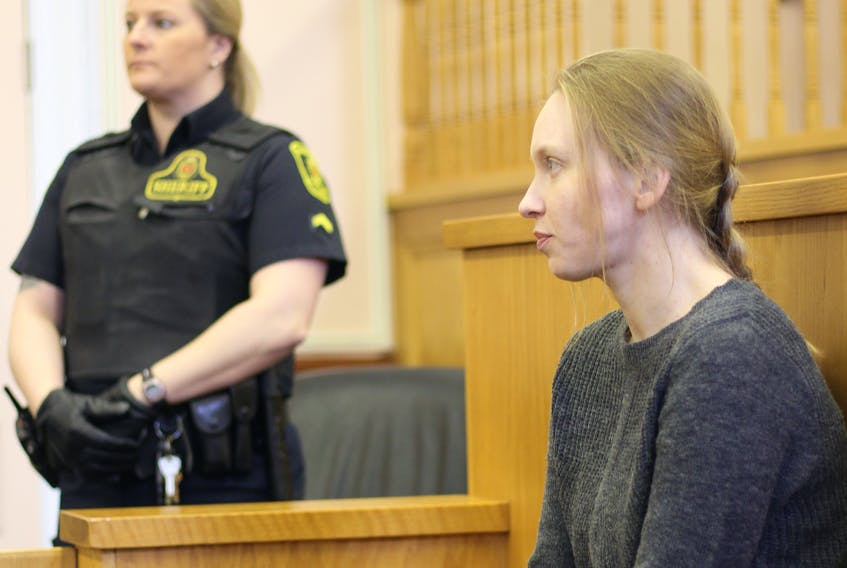 Accused murderer Anne Norris sits at Newfoundland and Labrador Supreme Court in St. John's Jan. 22.