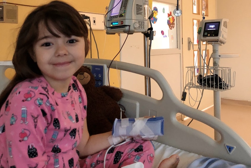 Abigale has often required blood transfusions to help treat her acute lymphoblastic leukemia, and is grateful to all those who donate. Contributed photo