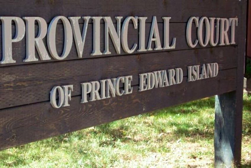 P.E.I. Provincial Court sign in Charlottetown.