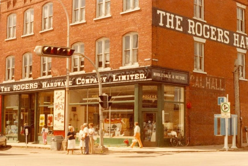Rogers Hardware decorated its windows for the royal visit in 1983 of Prince Charles and Princess Diana.