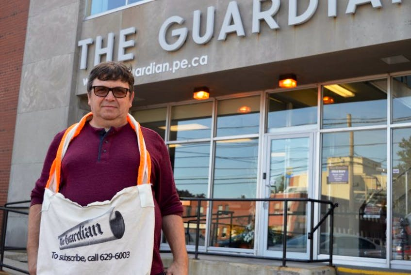 Ritchie Doucette of Charlottetown has been a newspaper carrier for The Guardian for almost two years now. He's hoping to save up enough money to travel. Newspaper carriers will be celebrated on International Newspaper Carrier Day on Saturday.