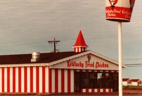 """This photo of a Kentucky Fried Chicken outlet was taken in 1975 — the year the fast food restaurant opened in Stratford. The location was closed for good Dec. 31 leaving owner/operator Angus Davies exploring options to """"revitalize'' the property."""