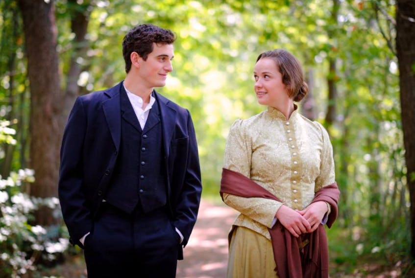 """Connor Lucas and Kelsey Falconer portray Ivan and Sofya in the world premiere of """"A Misfortune"""" at The Charlottetown Festival."""