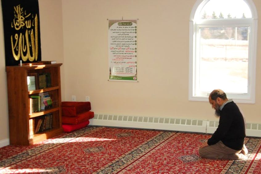 Rehan Babar of Stratford prays at the Masjid Dar As-Salam mosque in Charlottetown in this file photo. - Jim Day