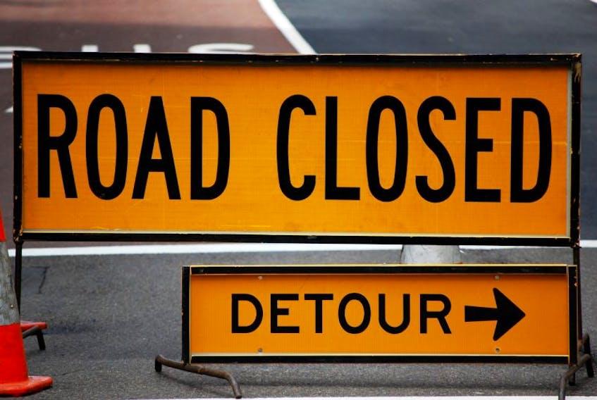 Road closure.