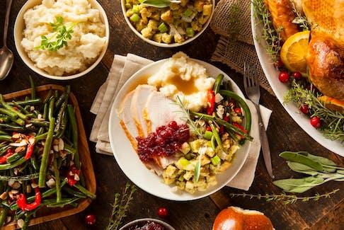 A turkey dinner.