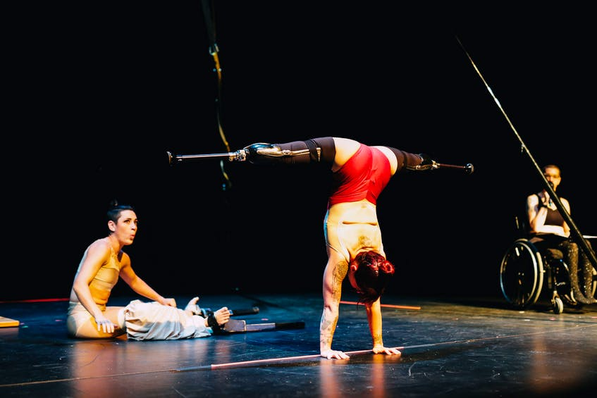 Erin Ball and Vanessa Furlong of LEGacy Circus, perform at Neptune Theatre during the Halifax Fringe Festival. Lyndsay Doyle - SaltWire Network