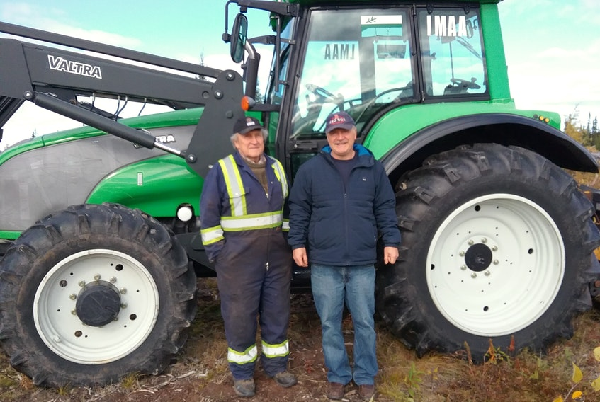 Jim Purdy (left) and Des Sellars have both been farming in Happy Valley-Goose Bay for a number of years and say government policy is one of the biggest inhibiting factors around agricultural growth in Labrador. - CONTRIBUTED
