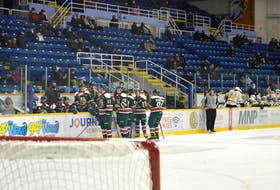 In mid-February, Cape Breton Eagles fans were allowed back in limited numbers at Centre 200 in Sydney. JEREMY FRASER/CAPE BRETON POST.