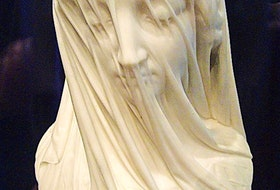 St. John's marble masterpiece — The Veiled Virgin.
