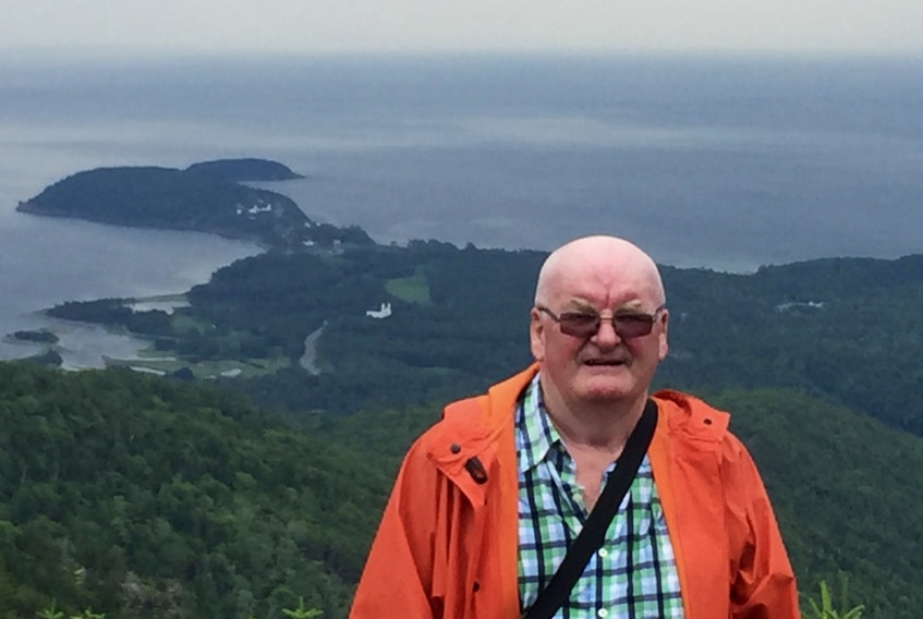 Mike Boone at Franey Mountain in the Cape Breton Highlands, after a hike to the top. CONTRIBUTED