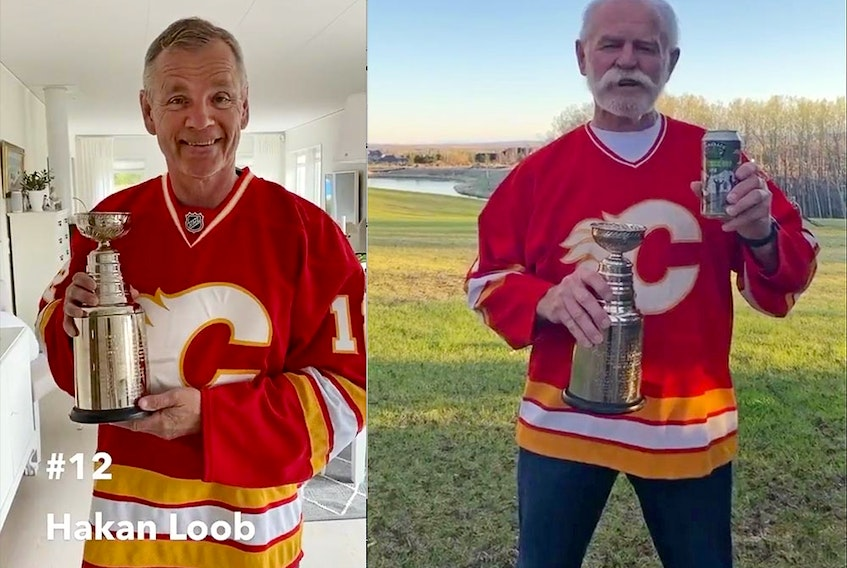 The Calgary Flames alumni marked the anniversary of their 1989 Stanley Cup title with a TikTok video, a mash-up of a bunch of 50- and 60-somethings 'passing' hockey's ultimate prize around from their respective basements and backyards.