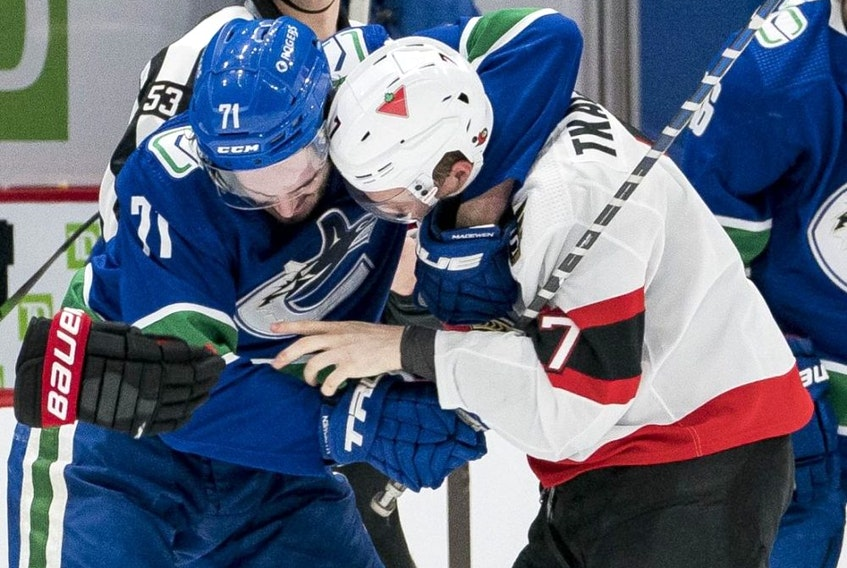 Senators are breathing down the necks of the sixth place Canucks.