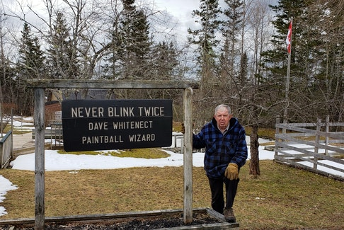 Dave Whitenect at his Never Blink Twice Paintball course in Elderbank, N.S. He says this season, his 25th, will be the last season of business. CONTRIBUTED