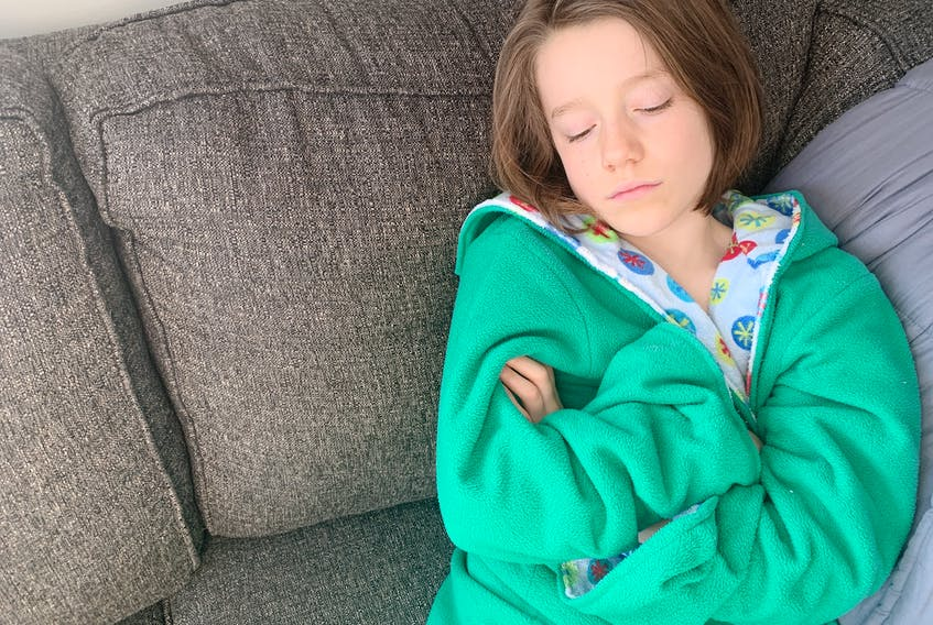 """Heather Laura Clarke's kids hate being home sick because it's """"boring"""" — and that's how she likes it. Heather Laura Clarke photo"""