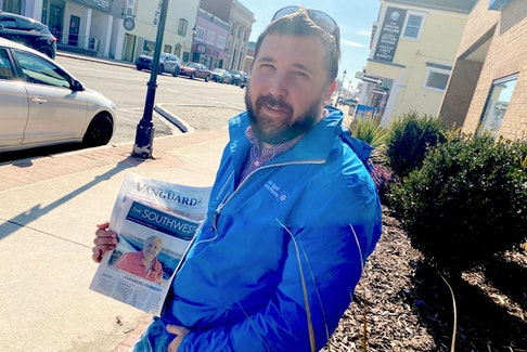 In his role as an event promoter, Rick Allwright knows what an important role community newspapers play in corporate and cultural events. Tina Comeau Photo