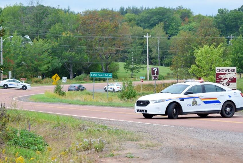 Highway 6 East leading to River John, just across the bridge from Tatamagouche, was closed to traffic throughout the day Monday, while RCMP officers investigated the scene at the Lockerbie Memorial Cemetery of a gunfire exchange between police and a shooting suspect.
