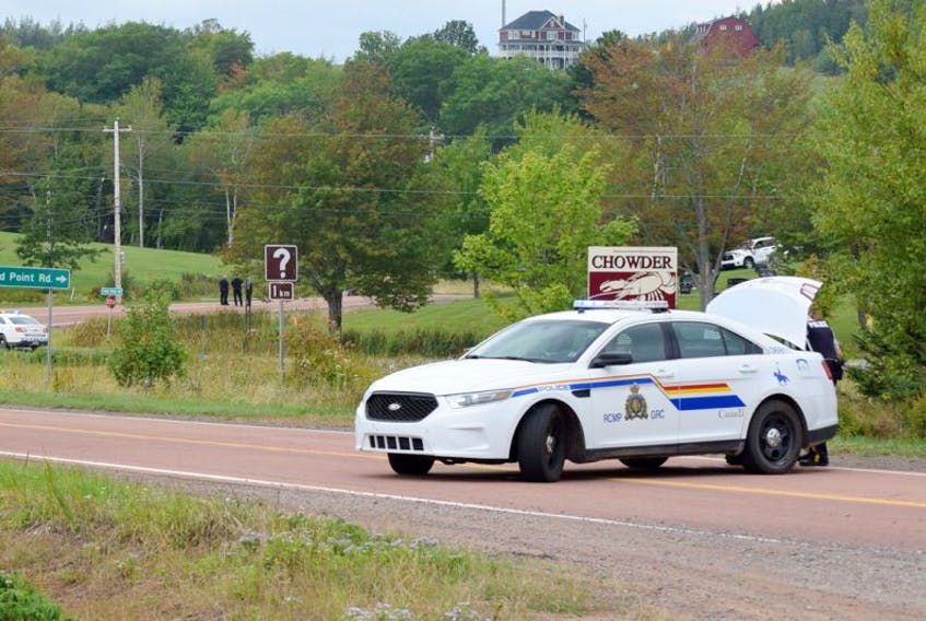 Highway 6 East leading to River John, just across the bridge from Tatamagouche, was closed to traffic throughout the day Monday while RCMP officers investigated the scene at the Lockerbie Memorial Cemetery after a gunfire exchange between Junior Duggan and police.