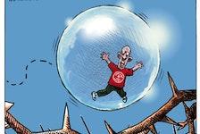 Michael de Adder cartoon for Nov. 16, 2020. Atlantic bubble, rise in COVID-19 cases
