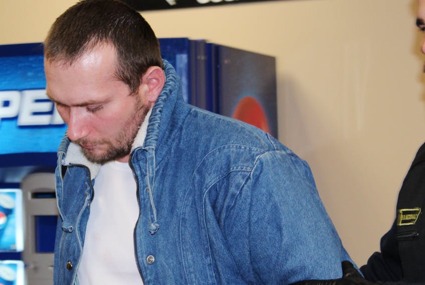 Travis Wade, 33, appeared in provincial court in St. John's Saturday morning.