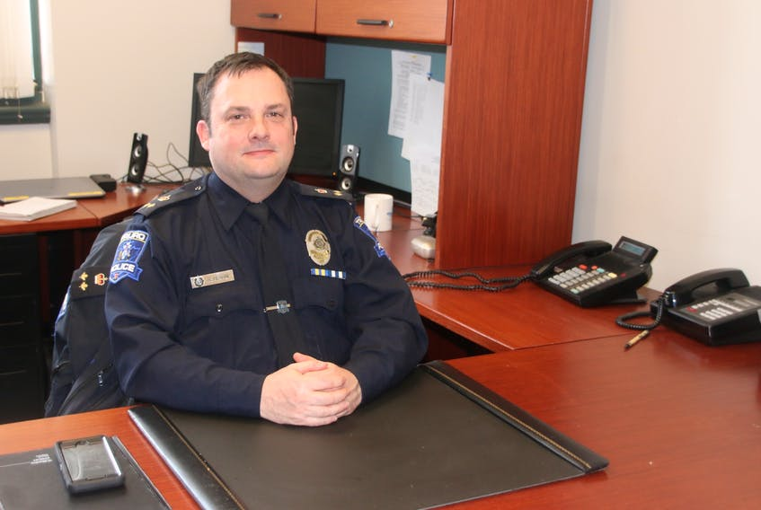 Rob Hearn is Truro's new deputy police chief. With 23 years in the service, he replaces Jim Flemming, who retired in October. LYNN CURWIN/TRURO NEWS