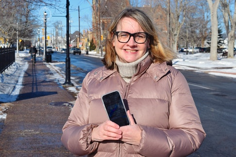 Michelle McCann started taking pictures with her phone of Nova Scotia decals she saw in vehicles across the community after noticing them on a drive down Prince Street.